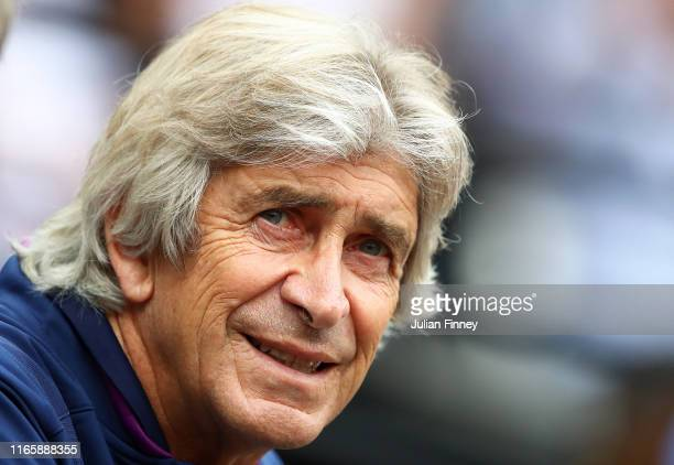 Manuel Pellegrini coach of West Ham looks on during the Pre-Season Friendly match between West Ham United and Athletic Bilbao at the Olympic Stadium...