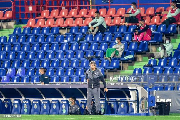 Manuel Pellegrini during La Liga match between Getafe CF and Real Betis at Coliseum Alfonso Perez on September 28 2020 in Getafe Spain
