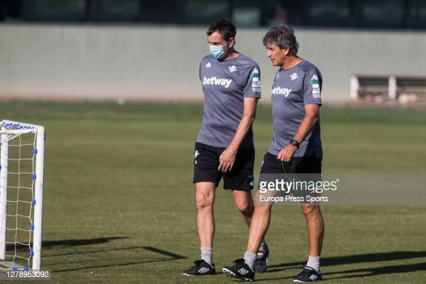 Manuel Pellegrini head coach walks during a Real Betis Balompie training session at Luis del Sol Sport City on October 07 2020 in Sevilla Spain