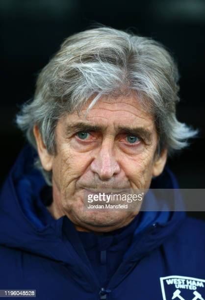Manuel Pellegrini Manager of West Ham United looks on prior to the Premier League match between Crystal Palace and West Ham United at Selhurst Park...