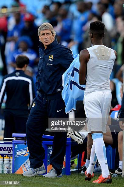 Manuel Pellegrini of Manchester City during the Nelson Mandela Football Invitational match between SuperSport United and Manchester City from Loftus...