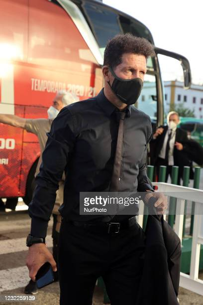 Manuel Pellegrini of Real Betis Balompie arrives to the Stadium prior the La Liga Santander match between Real Betis and Atletico de Madrid at...