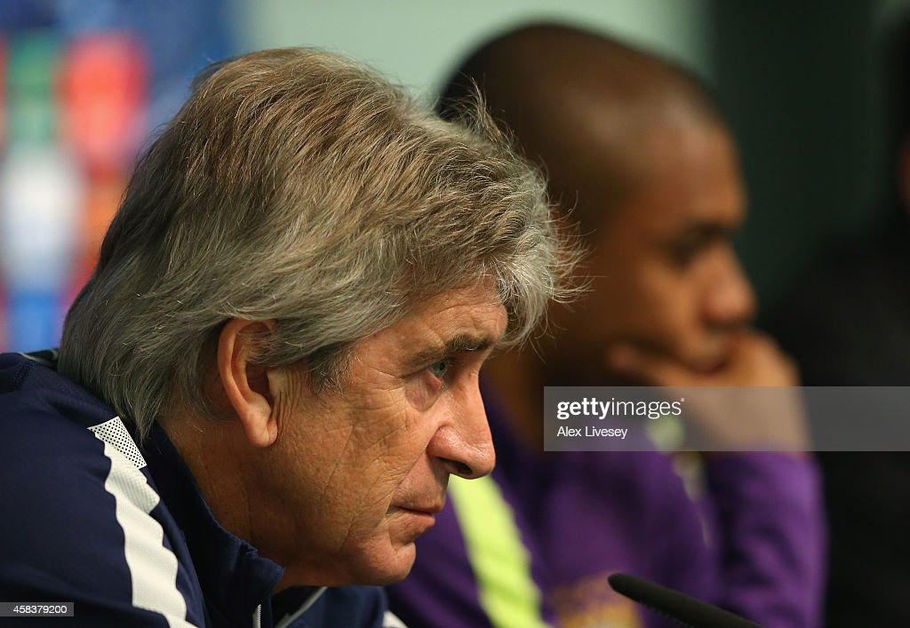 Manchester City Training & Press Conference : News Photo
