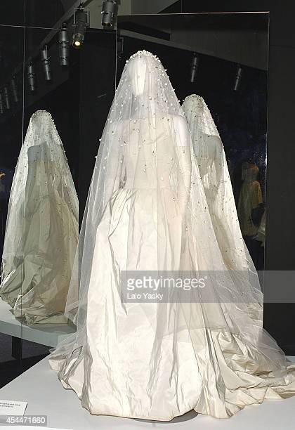 Manuel Pertegaz attends the opening of a retrospective exhibition of his creations at Reina Sofia Museum of his on February 17 2004 in Madrid Spain...
