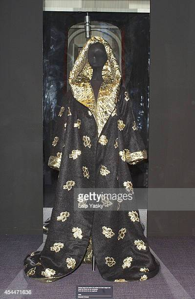 Manuel Pertegaz's creations are seen at the opening of a retrospective exhibition of his work at Reina Sofia Museum February 17 2004 in Madrid Spain