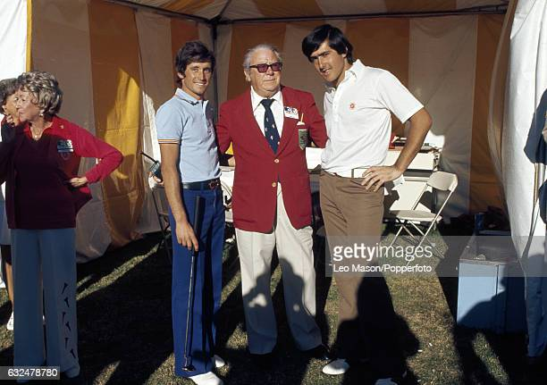 Manuel Pinero and Severiano Ballesteros of Spain after winning the World Cup of Golf at Mission Hills Golf Club in Palm Springs California circa 1976