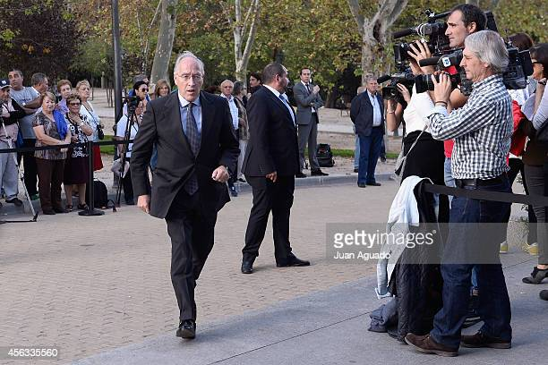 Manuel Pizarro attends at Parque San Isidro Cemetery following the death of Miguel Boyer on September 29 2014 in Madrid Spain Spanish politician...