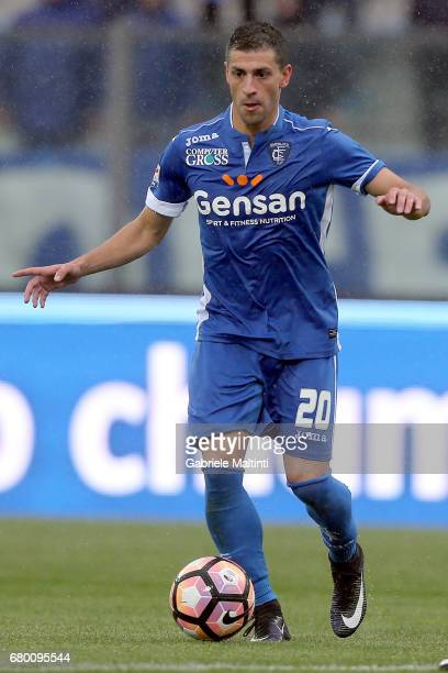 Manuel Pucciarelli of Empoli FC in action during the Serie A match between Empoli FC and Bologna FC at Stadio Carlo Castellani on May 7 2017 in...
