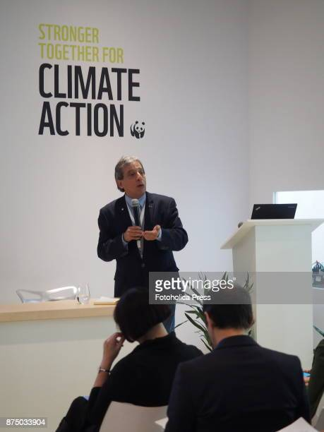 Manuel PulgarVidal leader of the Climate and Energy Practice of WWF International speaking at the United Nations Framework Convention on Climate...