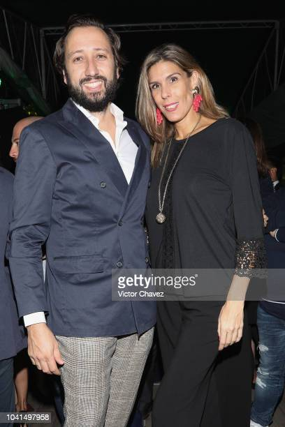 Manuel Quintanero and Maria Forcada attend the Nespresso Vertuo launch on September 26 2018 at Piacere in Mexico City Mexico