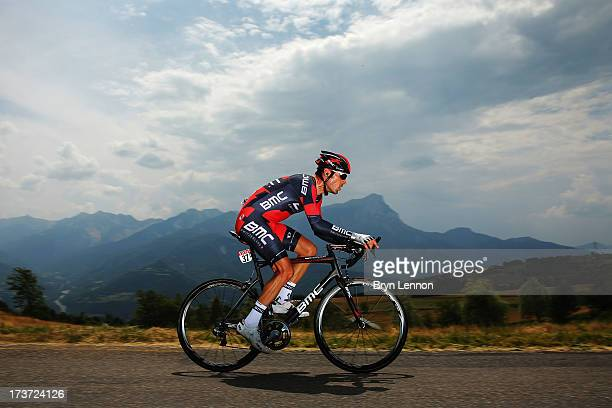 Manuel Quinziato of Italy and the BMC Racing Team rides during stage seventeen of the 2013 Tour de France, a 32KM Individual Time Trial from Embrun...