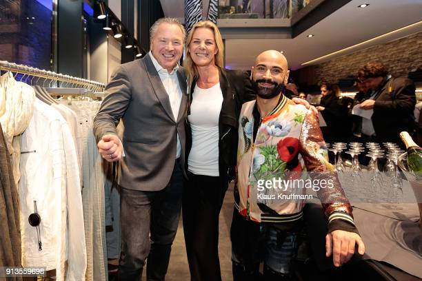 Manuel Rivera Alexandra von Schöning and Maurizio Alligri during the Opening of the Different Fashion Store at Hafencity on February 1 2018 in...
