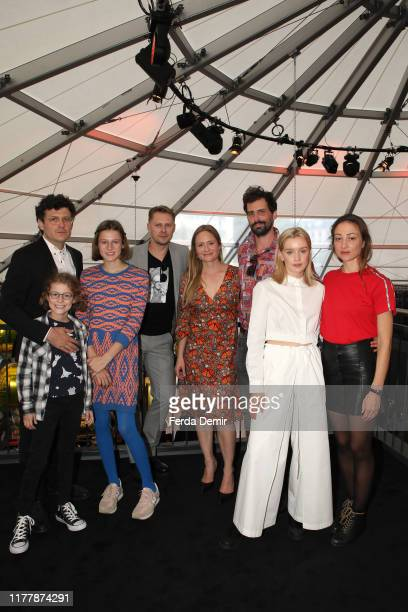 Manuel Rubey guest guest Tamet Tuisk Julia Jentsch Marcel Mohab Lena Tronina and Aenne Schwarz pose at the Meet the Filmmakers event during the 15th...