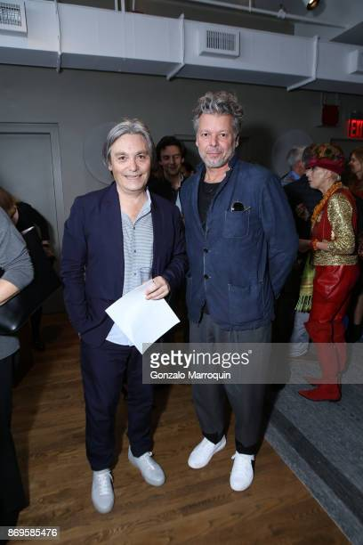 Manuel Santelices and Hans Neleman during the Clodagh Design Hosts The Thorn Tree Project's Evening of Art on November 2, 2017 in New York City.