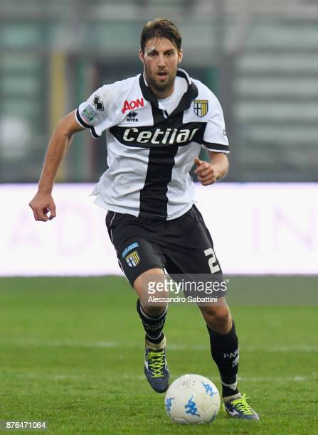 Manuel Scavone of Parma Calcio in action during the Serie B match between Parma Calcio and Ascoli Picchio at Stadio Ennio Tardini on November 18 2017...