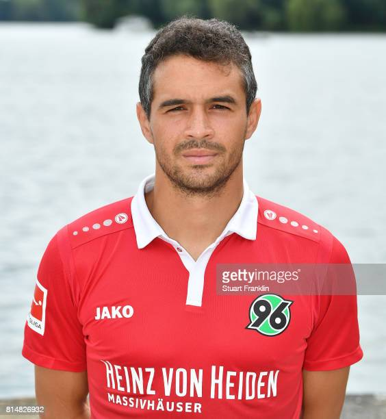 Manuel Schmiedebach of Hannover 96 poses during the team presentation at on July 14 2017 in Hanover Germany