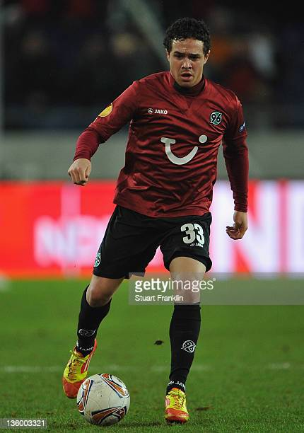 Manuel Schmiedebach of Hannover in action during the UEFA Europa League match between Hannover 96 and FC Vorskla Poltava at AWD Arena on December 15,...