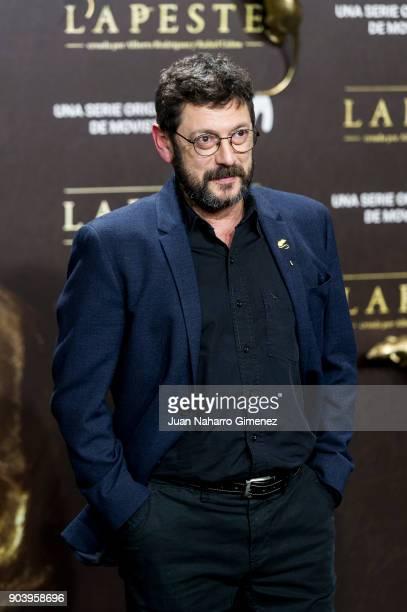 Manuel Solo attends 'La Peste' premiere at Callao Cinema on January 11 2018 in Madrid Spain