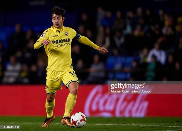 Manuel Trigueros of Villarreal in action during the Copa del Rey Round of 16 second Leg match between Villarreal CF and Leganes at Estadio de La...