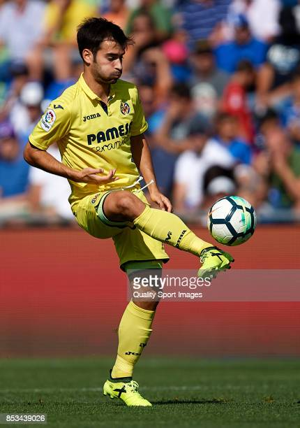 Manuel Trigueros of Villarreal in action during the La Liga match between Getafe and Villarreal at Coliseum Alfonso Perez on September 24 2017 in...
