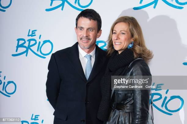 Manuel Valls and his wife Anne Gravoin attend the 'Le Brio' Paris Premiere at Cinema Gaumont Capucine on November 21 2017 in Paris France