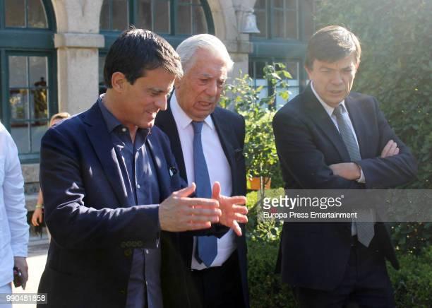 Manuel Valls and Mario Vargas Llosa attend El Escorial Summer Courses 2018 at Real Centro Universitario Escorial Maria Cristina on July 2 2018 in El...