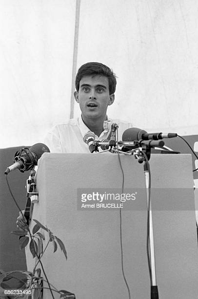 Manuel Valls at a Summer University for young Rocardians in Les Arcs France 6th September 1985