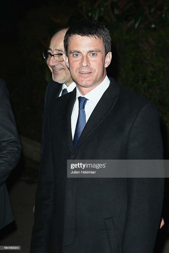 Manuel Valls attends the 28th Dinner of 'Conseil Rrepresentatif Des Institutions Juives De France at Pavillon d'Armenonville on March 20, 2013 in Paris, France.
