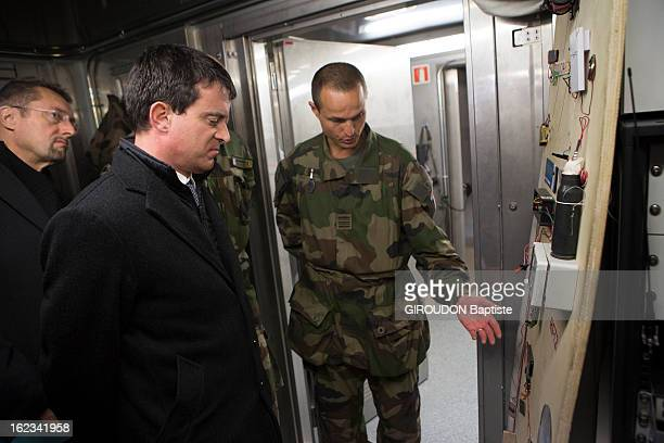 Manuel Valls, Minister of the Interior during his visit to the region on February 15, 2013 in Afghanistan.