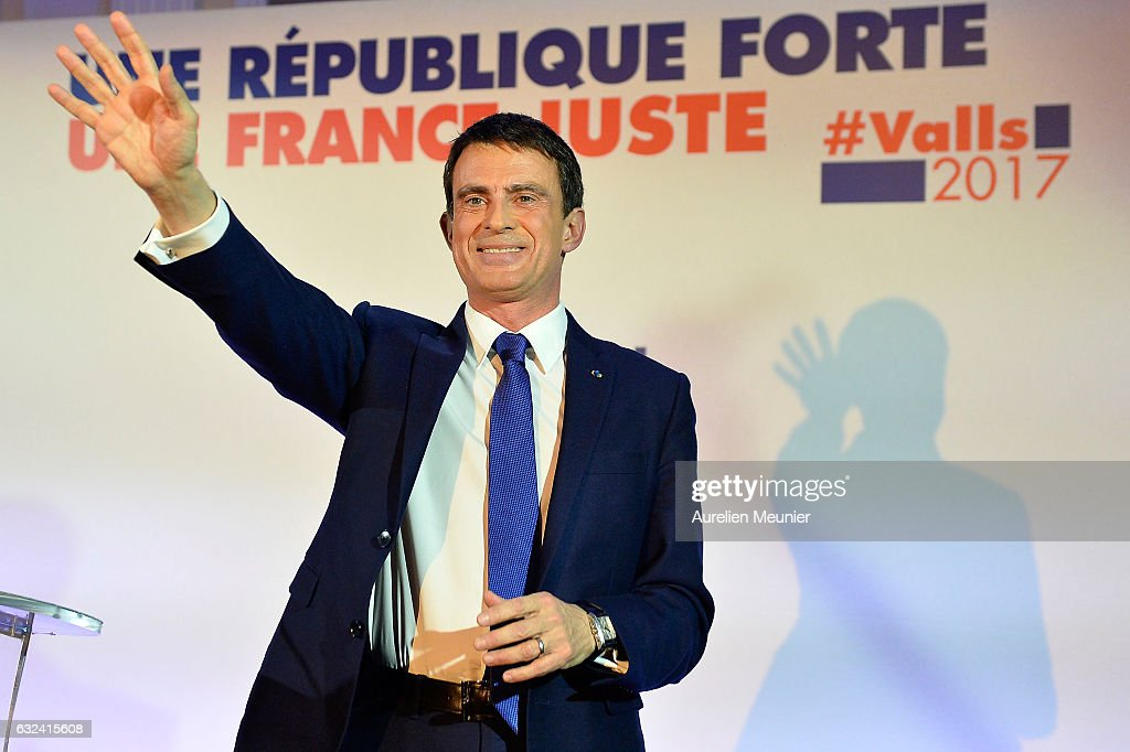 Manuel Valls Delivers a Speach after First Left-wing Primary Ahead Of The 2017 Presidential Election In Paris