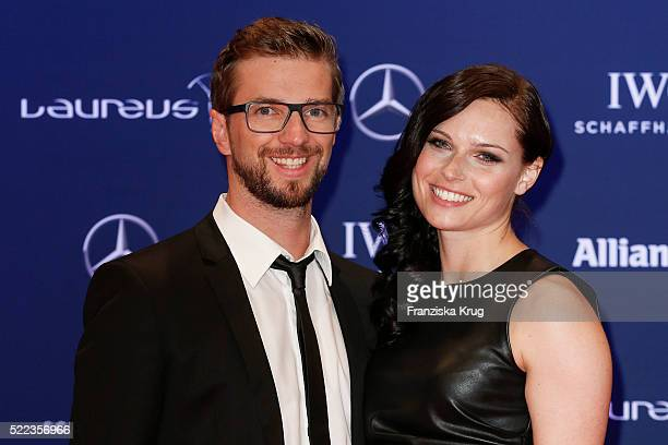 Manuel Veith and Anna Fenninger attend the Laureus World Sports Awards 2016 at the Messe Berlin on April 18 2016 in Berlin Germany