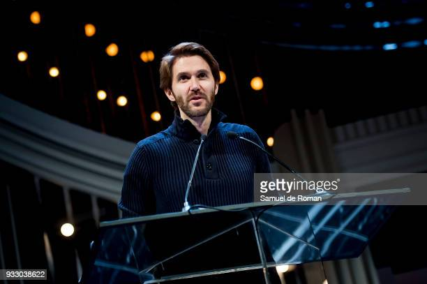 Manuel Velasco attends during the Golden medal of Valladolid for her contribution to the arts award on March 17 2018 in Valladolid Spain