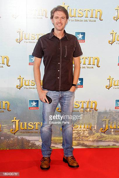 Manuel Velasco attends 'Justin and the knights of valour' premiere at Kinepolis cinema on September 12 2013 in Madrid Spain