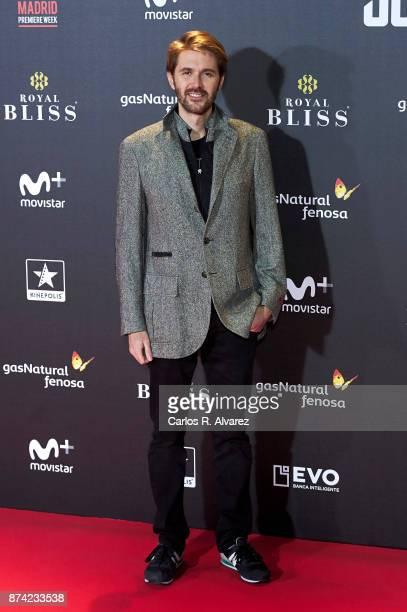Manuel Velasco attends 'La Liga de La Justicia' premiere at the Kinepolis cinema on November 14 2017 in Madrid Spain
