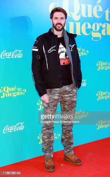 Manuel Velasco attends 'Que te juegas' premiere at the Capitol Cinema on March 27 2019 in Madrid Spain