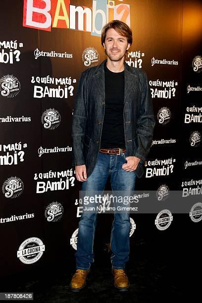 Manuel Velasco attends 'Quien Mato a Bambi' premiere at La Cocina Rock Bar on November 12 2013 in Madrid Spain