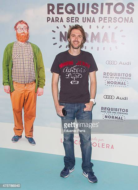 Manuel Velasco attends 'Requisitos para ser una persona normal' premiere at Palafox cinema on June 3 2015 in Madrid Spain