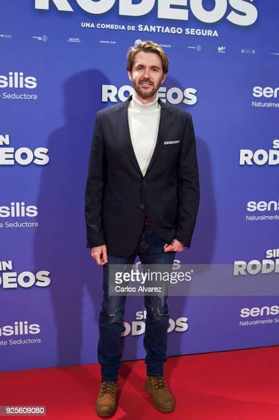 Manuel Velasco attends 'Sin Rodeos' premiere at the Capitol cinema on February 28 2018 in Madrid Spain