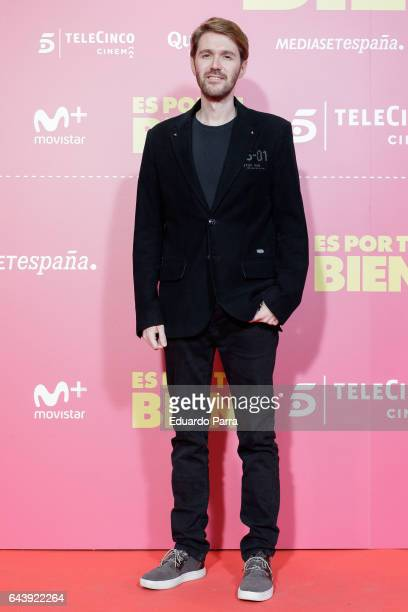 Manuel Velasco attends the 'Es por tu bien' premiere at Capitol cinema on February 22 2017 in Madrid Spain