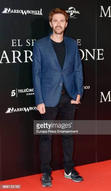 Manuel Velasco attends the premier of 'El Secreto de Marrowbone' at Capitol cinema on October 24 2017 in Madrid Spain