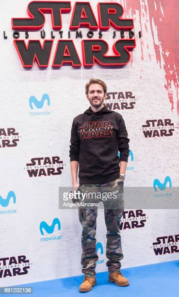 Manuel Velasco attends the 'Star Wars Los Ultimos Jedi' Madrid Premiere at Kinepolis Cinema on December 12 2017 in Madrid Spain