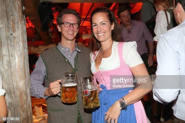Manuel von Bayern and Gioia von Thun during the Oktoberfest at Kaefer Schaenke Theresienwiese on September 22 2017 in Munich Germany
