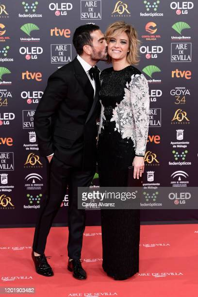 Manuel Zamorano and Maria Casado attend the Goya Cinema Awards 2020 during the 34th edition of the Goya Cinema Awards at Jose Maria Martin Carpena...