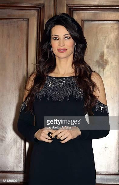 Manuela Arcuri attends a photocall for 'Il Bello Delle Donne Alcuni Anni Dopo ' tv series at Palazzo Ferrajoli on January 10 2017 in Rome Italy