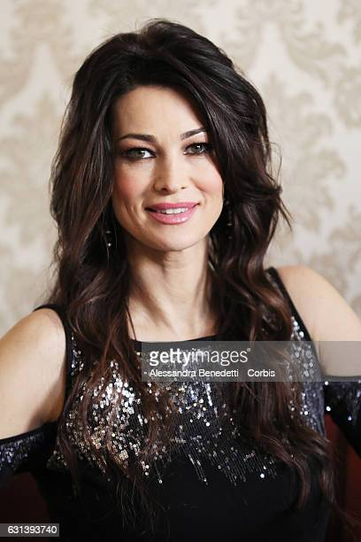 Manuela Arcuri attends a photocall for 'Il Bello Delle Donne' tv series on January 10 2017 in Milan Italy