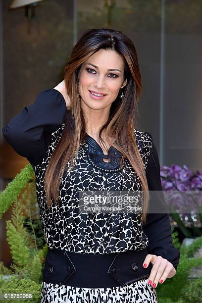 Manuela Arcuri attends a photocall for 'Non Si Ruba In Casa Di Ladri' on October 28 2016 in Rome Italy