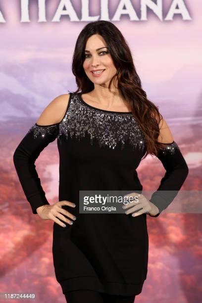 Manuela Arcuri attends the Frozen 2 Secrets Of Arendelle premiere on November 12 2019 in Rome Italy