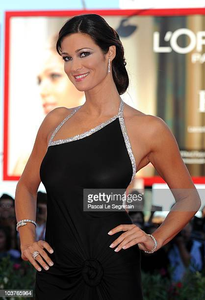 Manuela Arcuri attends the Opening Ceremony and Black Swan premiere during the 67th Venice Film Festival at the Sala Grande Palazzo Del Cinema on...
