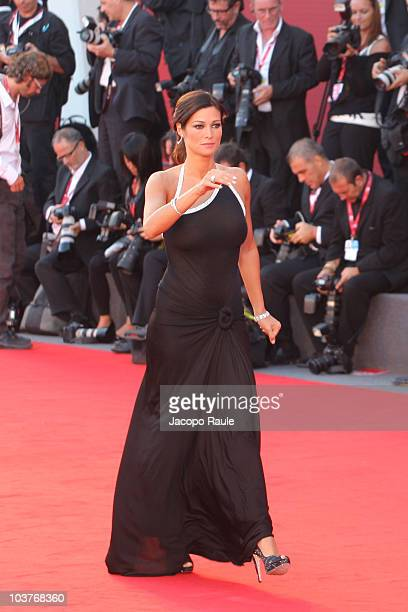 Manuela Arcuri attends the opening ceremony and the Black Swan premiere at the Palazzo del Cinema during the 67th Venice International Film Festival...