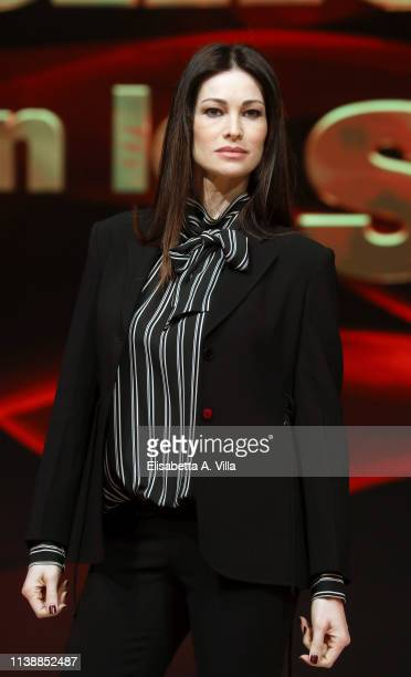 Manuela Arcuri attends the photocall for Ballandro Con Le Stelle at RAI Auditorium on March 28 2019 in Rome Italy